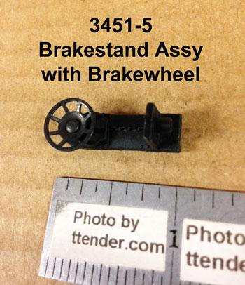Lionel 3451-4 Brakestand w//drive stud /& brakewheel 2